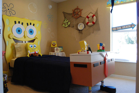 Habitaciones infantiles temáticas: Bob Esponja