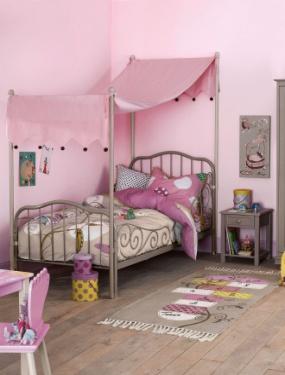 Cama con dosel para habitaciones de princesas - Dosel para cama nina ...