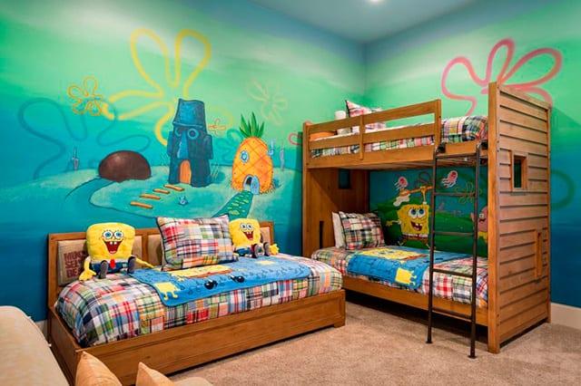 habitaciones infantiles temáticas Bob Esponja