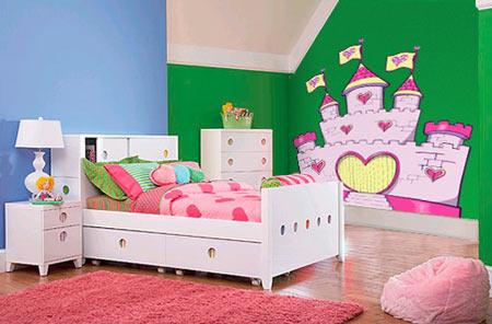 Vinilos para una habitaci n de princesas - Vinilos para habitacion nina ...