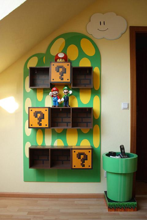 Estantería Mario Bros DIY