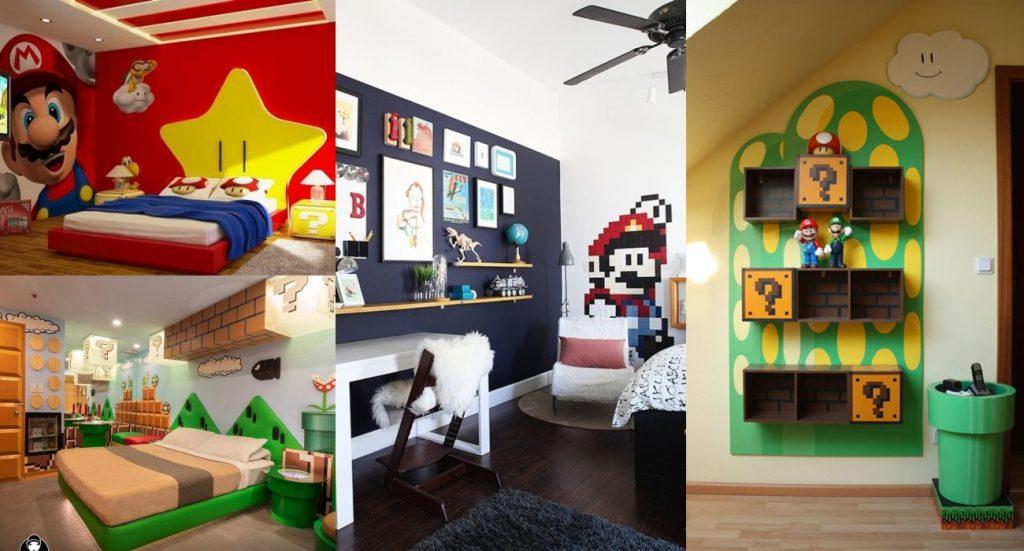 Ideas para habitaciones infantiles de Mario Bros