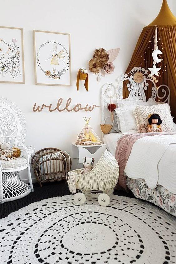 Habitaciones vintage para niñas