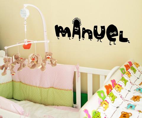 Letras de vinilo para habitaciones infantiles for Vinilos en habitaciones infantiles