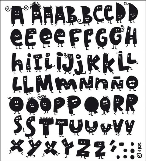 Letras de vinilo para habitaciones infantiles - Fuente letra infantil ...