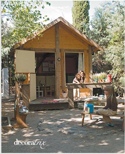 Hacer casa de madera para jardin