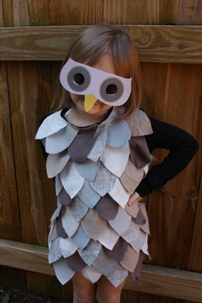 Homemade Owl Costume