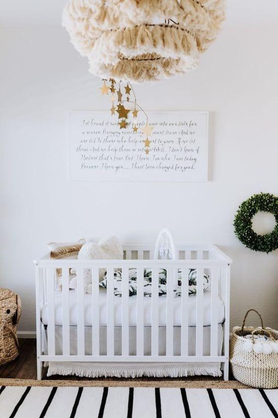 Habitaciones de bebés blancas