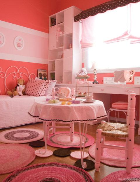 habitación temática pasteles