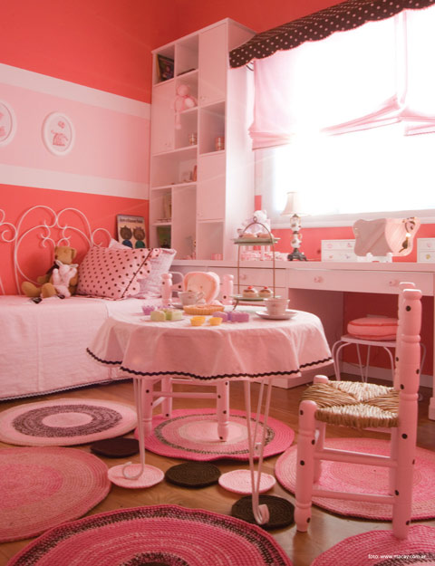 Inspiraci n habitaci n tem tica pasteles para ni a for Cuarto de nina rosa palido