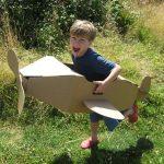 Juguetes de cartón reciclado: Avión Paperpod