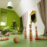 Una habitación, tres espacios: jugar, estudiar y dormir