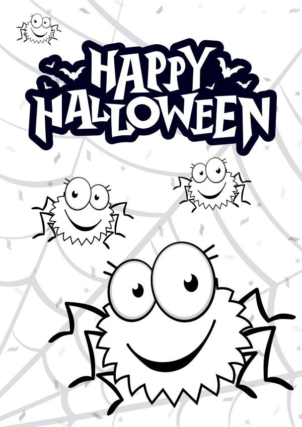 Dibujo Halloween Arañas