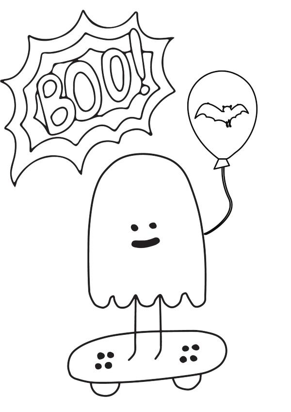 Dibujo Halloween Boo