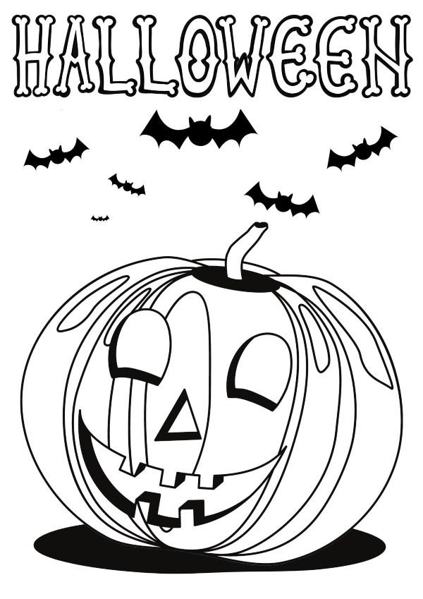 Dibujo Halloween Calabaza