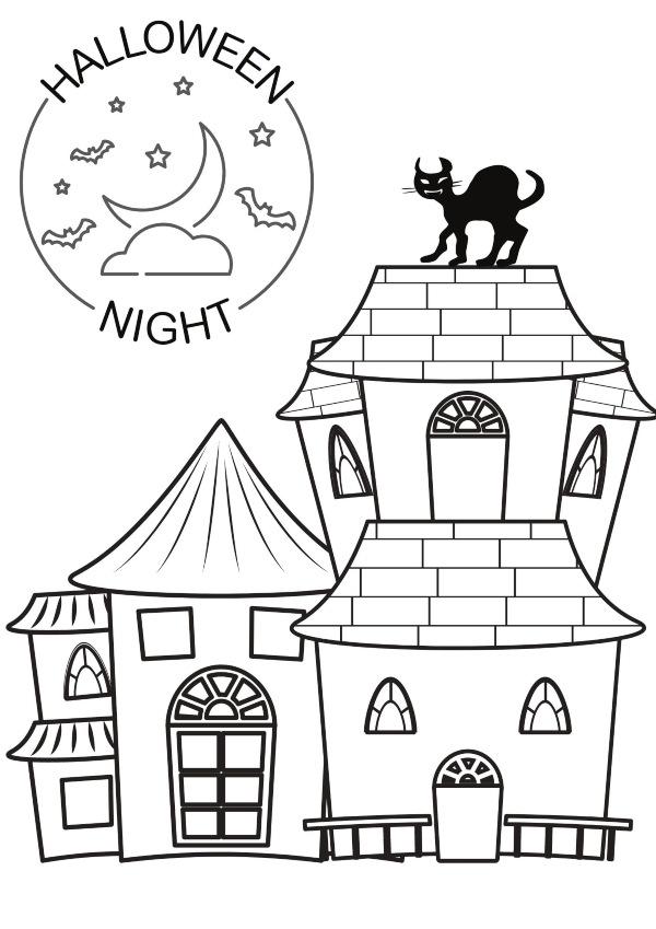 Dibujo Halloween mansion