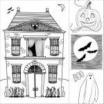 Manualidades Halloween: dibujos para colorear
