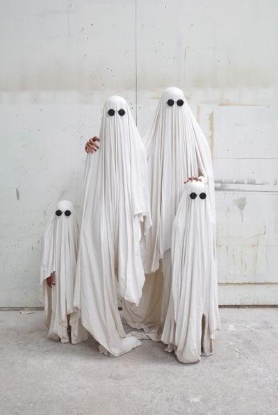 Disfraz familia fantasma