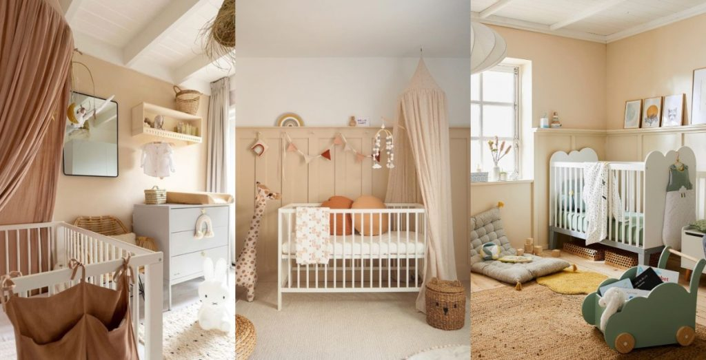 Dormitorio bebé beige