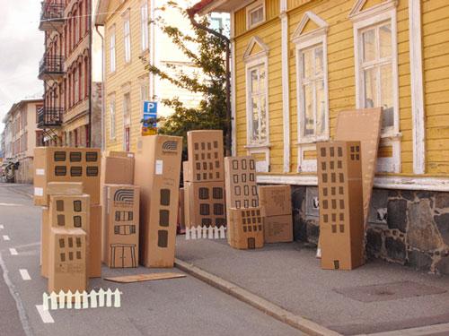 Manualidades infantiles: crear una ciudad de cartón