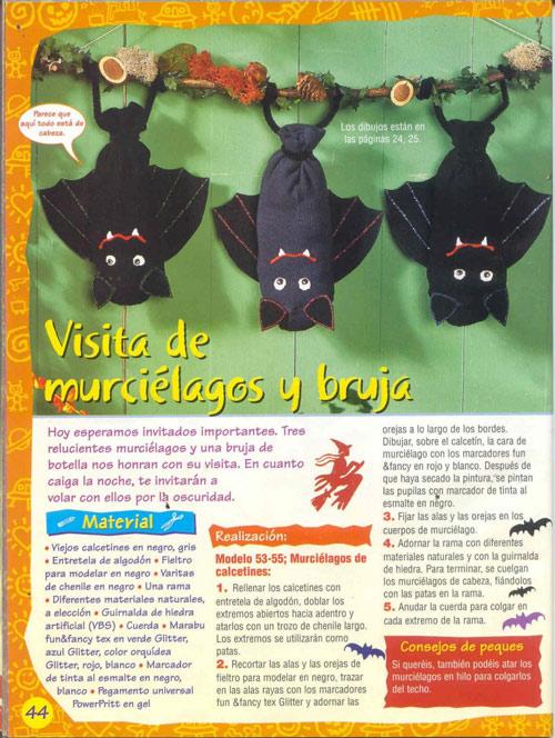 Cómo hacer murciélagos con calcetines