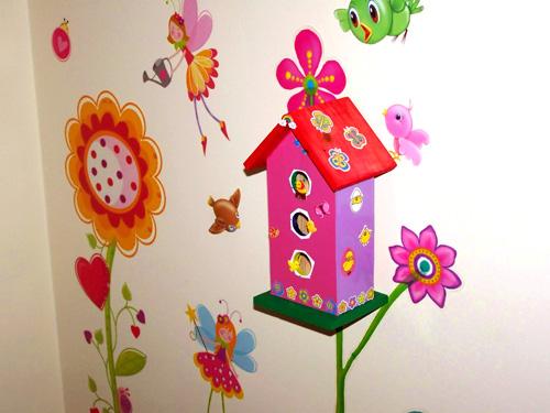 Manualidades infantiles pintar casitas de pajaritos for Manualidades decoracion infantil