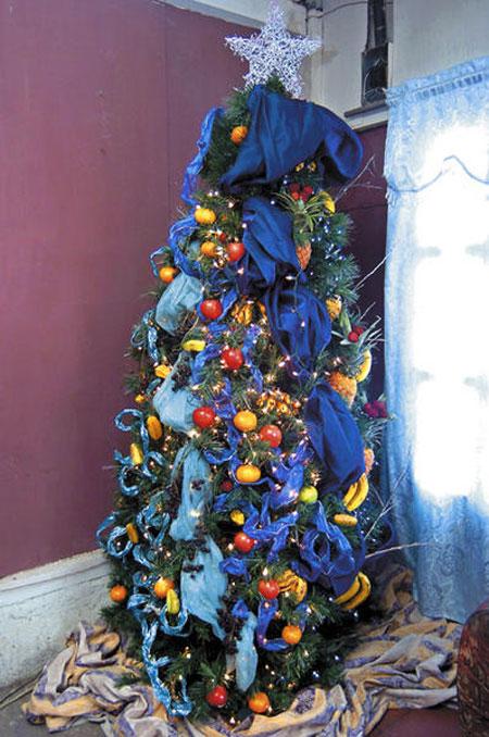 Decorar el rbol de navidad con frutas - Arbol de navidad adornos ...