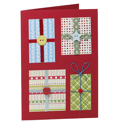 Manualidades navide as tarjetas hechas con botones - Postales navidad manualidades ninos ...
