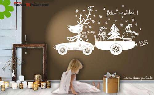 Vinilo infantil de navidad - Murales decorativos de navidad ...
