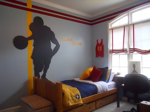 Baloncesto habitaciones juveniles decoideas net - Comely pictures of basketball themed bedroom decoration ideas ...