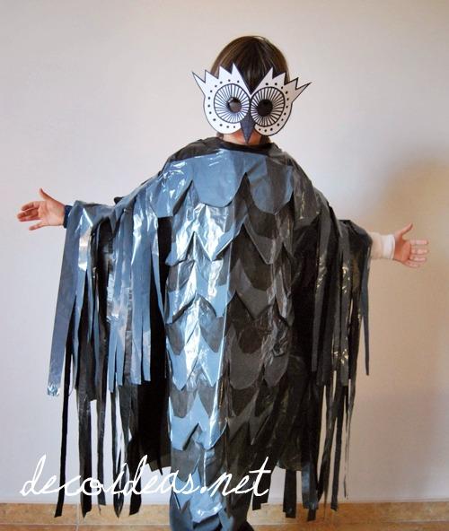 Disfraz infantil de búho hecho con bolsas de basura > Decoracion ...