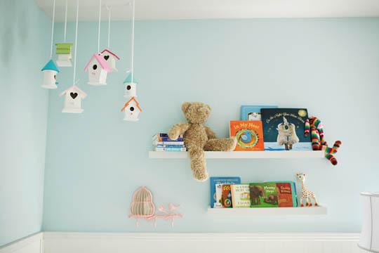 Ideas decoraci n beb s casitas de pajaritos decoideas net - Colores de habitaciones para bebes ...