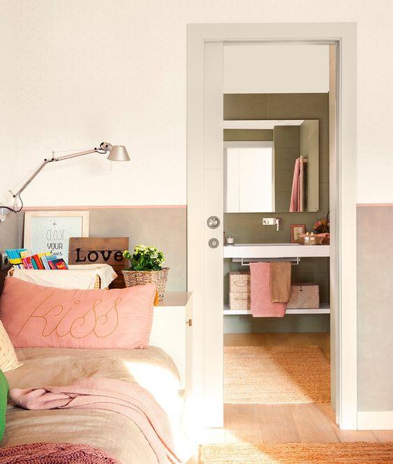 Baño infantil integrado en dormitorio