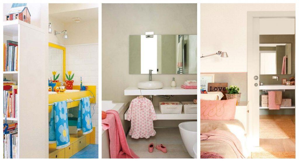 Habitación infantil con baño integrado