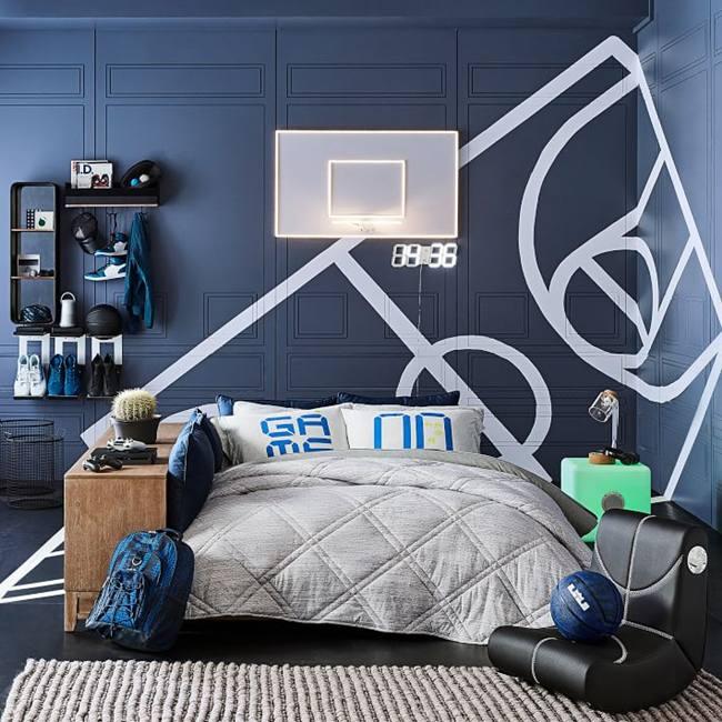 Baloncesto habitaciones juveniles decoraci n infantil for Decoracion de cuartos para jovenes hombres