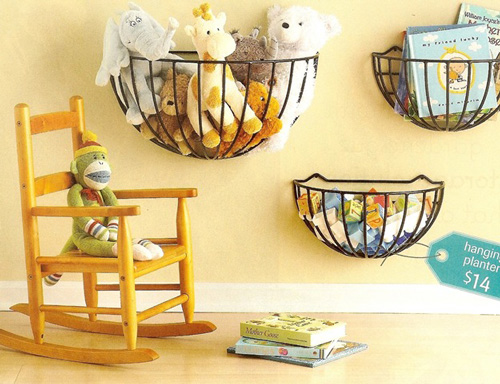 Ideas decoraci n bebes cestas en la pared decoideas net - Ideas decoracion bebe ...