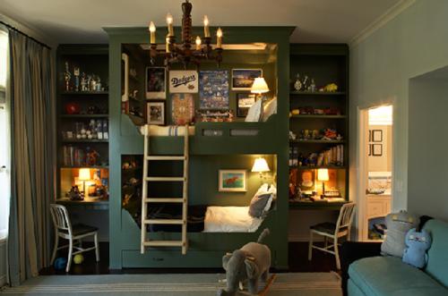 habitación infantil con litera