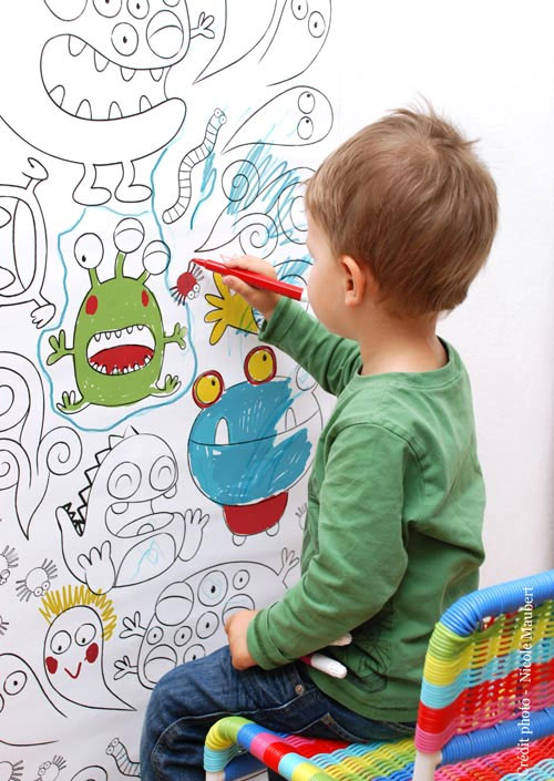 Papel pintado infantil para colorear - Papel de pintar ...