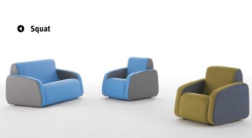 Sofá y sillón infantil
