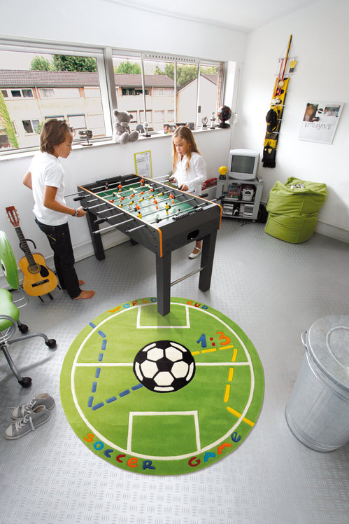 Alfombras infantiles para futbolistas - Alfombras redondas infantiles ...