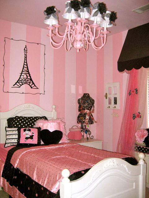 Fotos habitaciones juveniles en negro y fucsia