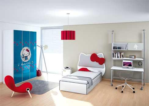 Habitaciones infantiles de Hello Kitty