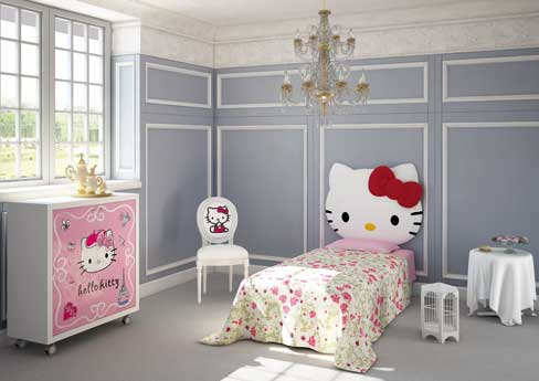 Habitaciones infantiles de Hello Kitty  DECOIDEAS.NET
