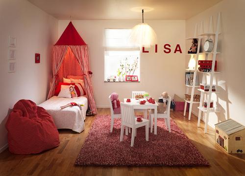 Inspiraci n habitaci n infantil blanca y roja decoideas net for Decoracion en rojo y blanco