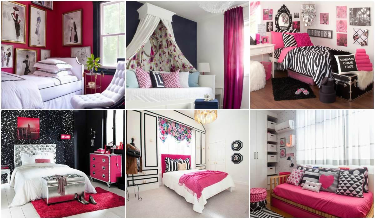 Inspiraci n fotos habitaciones juveniles en negro y fucsia for Modelo de tapiceria para dormitorio adulto
