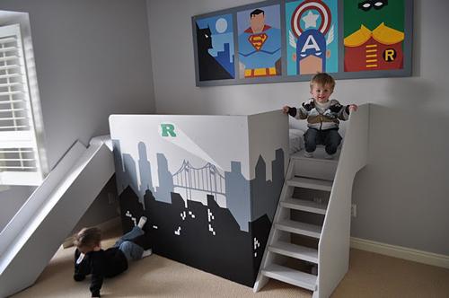 Habitaciones temáticas infantiles: Super héroes
