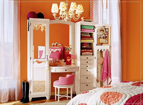 Habitaci n de ni a con tocador decoraci n infantil - Espejos para habitacion juvenil ...