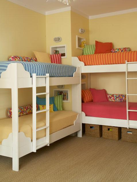 Habitaciones infantiles con literas ideas para decorar for Cuartos para ninas con literas