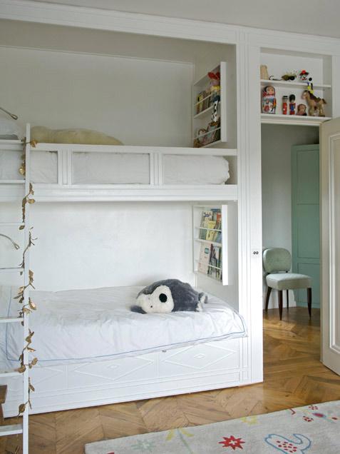 Habitaciones infantiles con literas ideas para decorar - Literas infantiles con tobogan ...