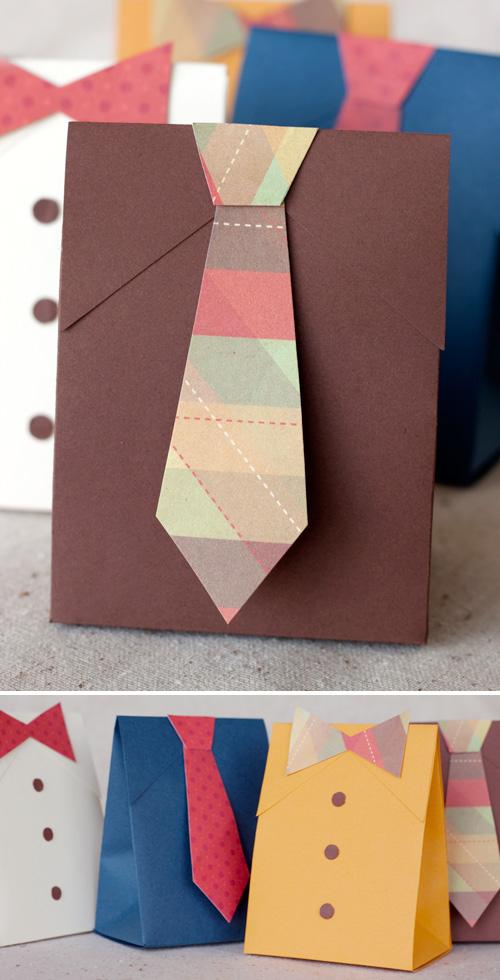 Cajas de regalo para el Día del Padre con forma de camisa
